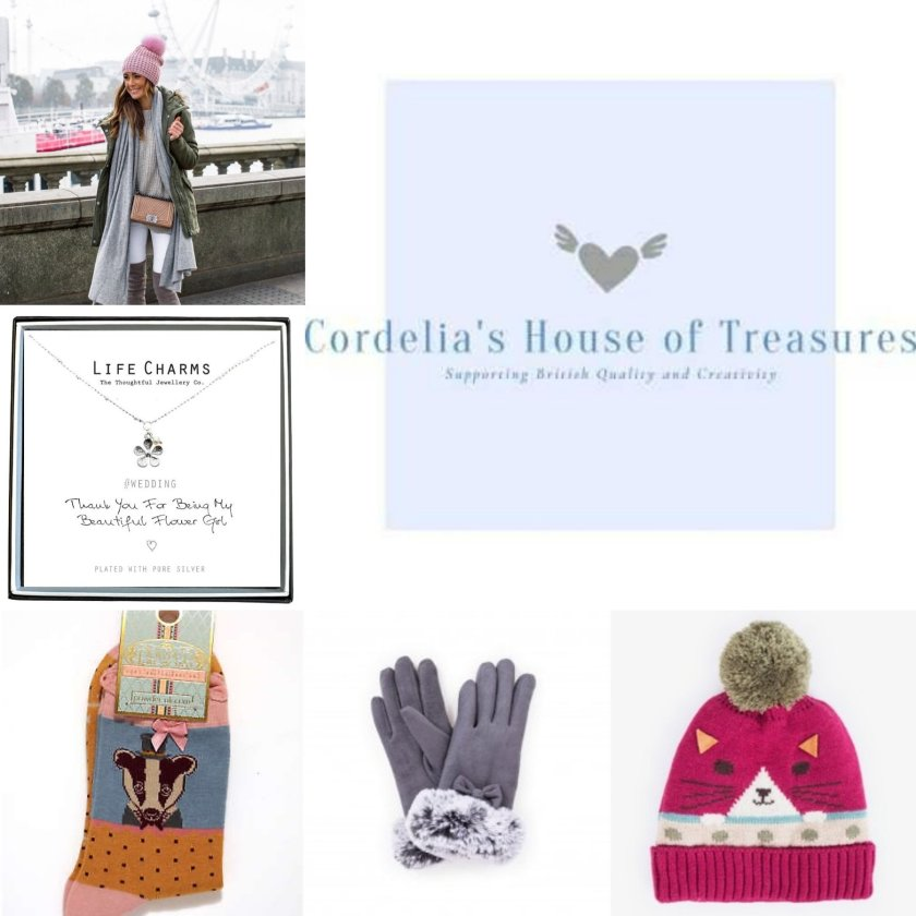 collage of gifts and British designed gifts